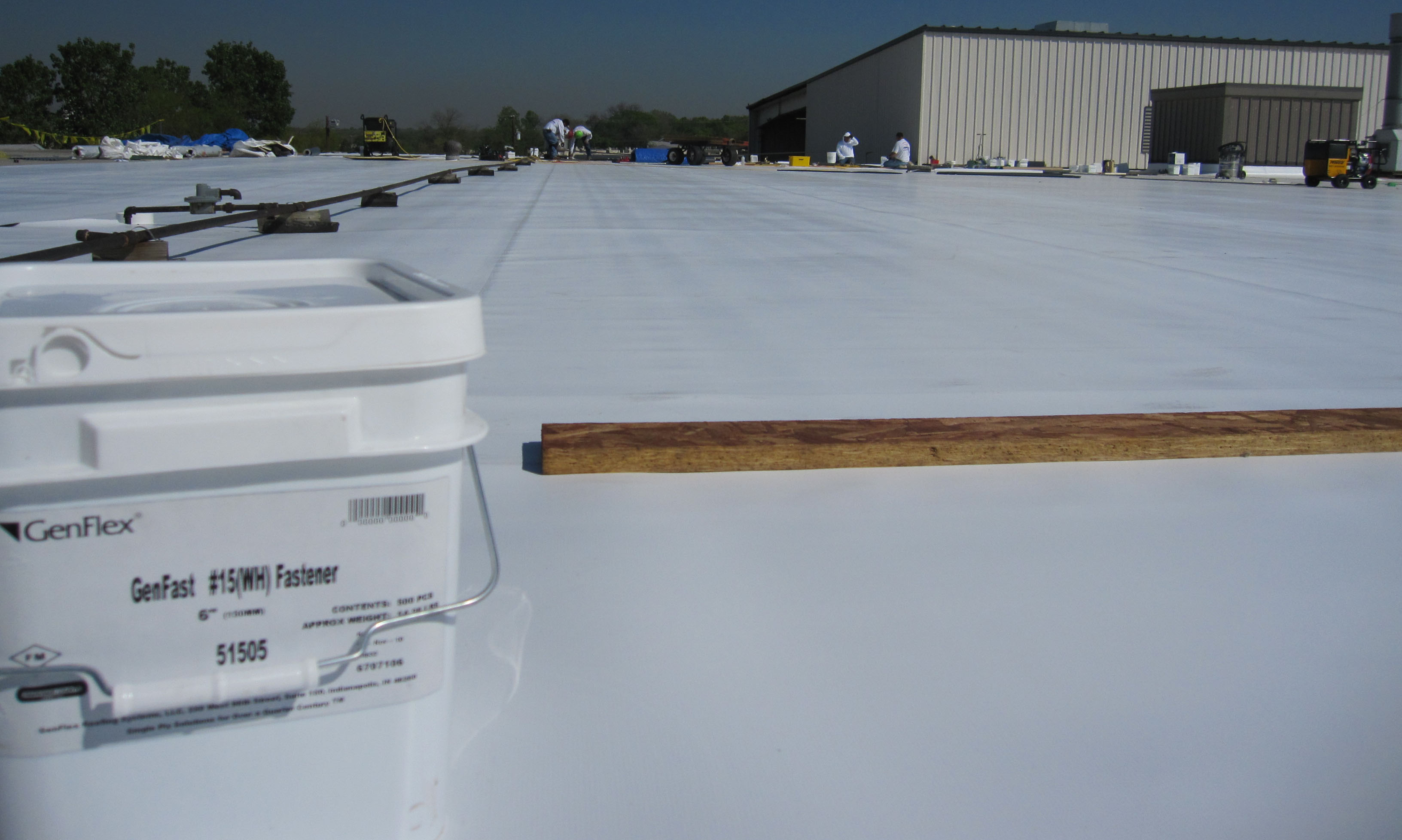 Hilite International Building - Carrollton, Texas - New GenFlex TPO Roofing Installation